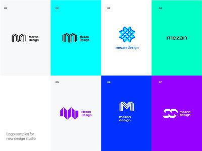 mezan design studio  coming soon options branding brand identity logo proposal brand studio