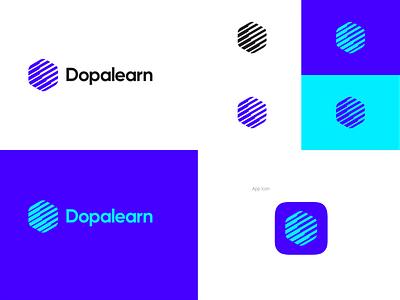 Dopalearn brand dopamine elearning logo