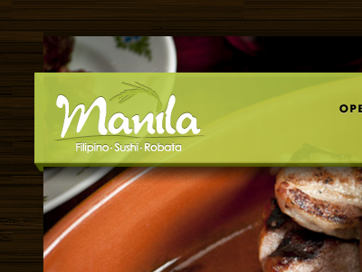 Manila web design header design restaurant delicious fpo