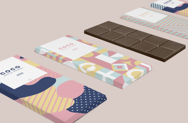Coco Chocolate graphic design pastel packaging vector branding design branding logo colorful design adobe