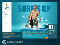 Surfs Up desktop UI