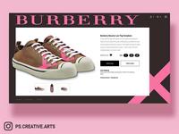 Burberry Sneaker UI Concept