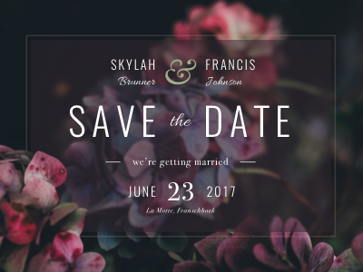 Save The Date save the date overlay flowers invitation stationery invite wedding