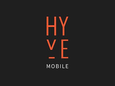 Hyve Mobile Logo graphic design corporate identity graphic design ci black orange mobile hyve dark logo