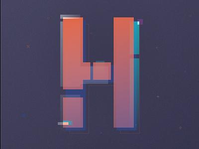 H Poster graphic design colorful digital design poster