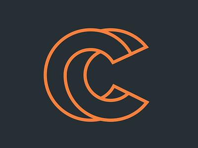 CC Logo overlap overlapping dark vector design orange cc logo