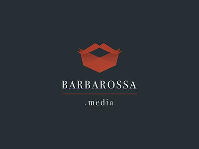 Barbarossa media bodoni red beard digital design logo barbarossa