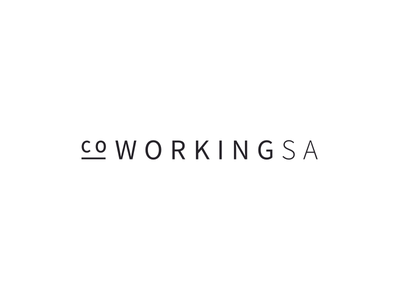 Co Working SA source sans pro black and white co working sa co working minimalism brand design digital logo sa