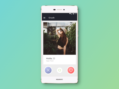Crush Android App date dating design digital app android crush