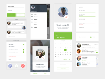 Crush App States components states date dating design digital app android crush