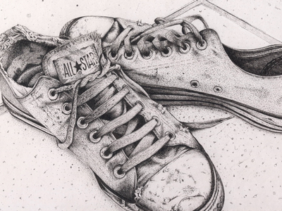 All Stars Sketch all stars a4 fineliner pen ink pointalism sketch