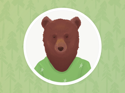 Bear profile illustration sketch vector digital design illustration forest brown grizzly picture pic profile bear