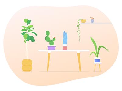 My bit of haven 🌿 digital design doodle colorful jungle plants vector illustration garden