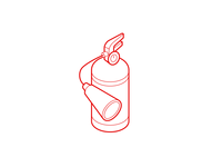 Isometric Fire Extinguisher