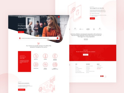 Fire Protections System - Real Pixel landingpage clean ux cta contact illustration homepage webdesign