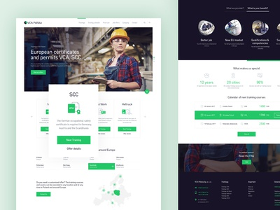 Booking Platform - Full Homepage technical certyficate responsive website web ux ui booking book illustration webdesign green