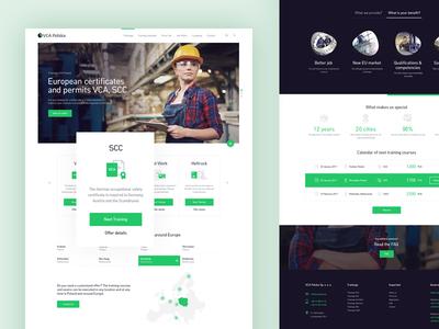 Booking Platform - Full Homepage technical certyficate responsive website web ux ui booking book illustration webdesign green