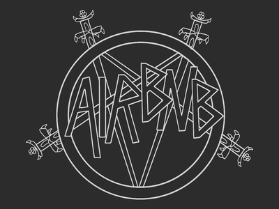 Heavy Metal Tech Branding pt. 2: AIRBNB VS SLAYER branding airbnb tech metal