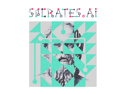Socrates.AI Branding: Connecting Type vector typography design logo tech branding