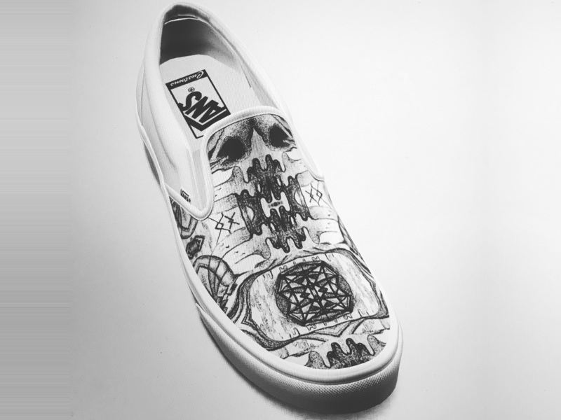 Vans Slip-On Concept Shoe: Birdskull Diamond illustration design