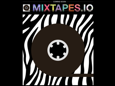Mixtapes.IO logo illustration branding design tech