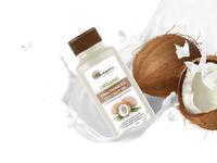 Free Coconut Oil Bottle Mockup PSD Template