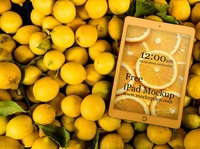 Free Golden Color iPad Mockup PSD Template