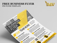 Free Yellow Color Business Flyer Mockup PSD Template