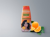 Free Clean Background Shampoo Bottle Mockup PSD Template