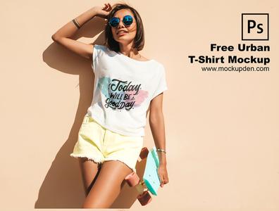 Free Urban T Shirt Mockup PSD Template tshirt design t-shirt mockup free mock up mockup psd