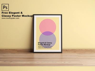 Free Classic Elegant Poster Mockup PSD Template frame poster mockup frame mockup free mockup psd