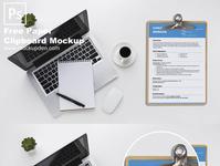 Free Paper Clip Board Mockup PSD Template design mockup psd