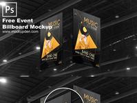 Free Event Billboard Mockup PSD Template branding billboard free mock up mockup psd