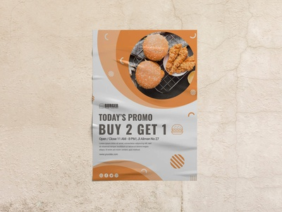 Free Wrinkled Paper Mockup PSD Template