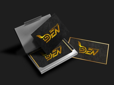 Free Golden Black Business Card Mockup | PSD Template
