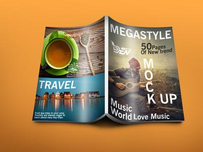 Free Travel Blog Magazine Cover Mockup | PSD Template