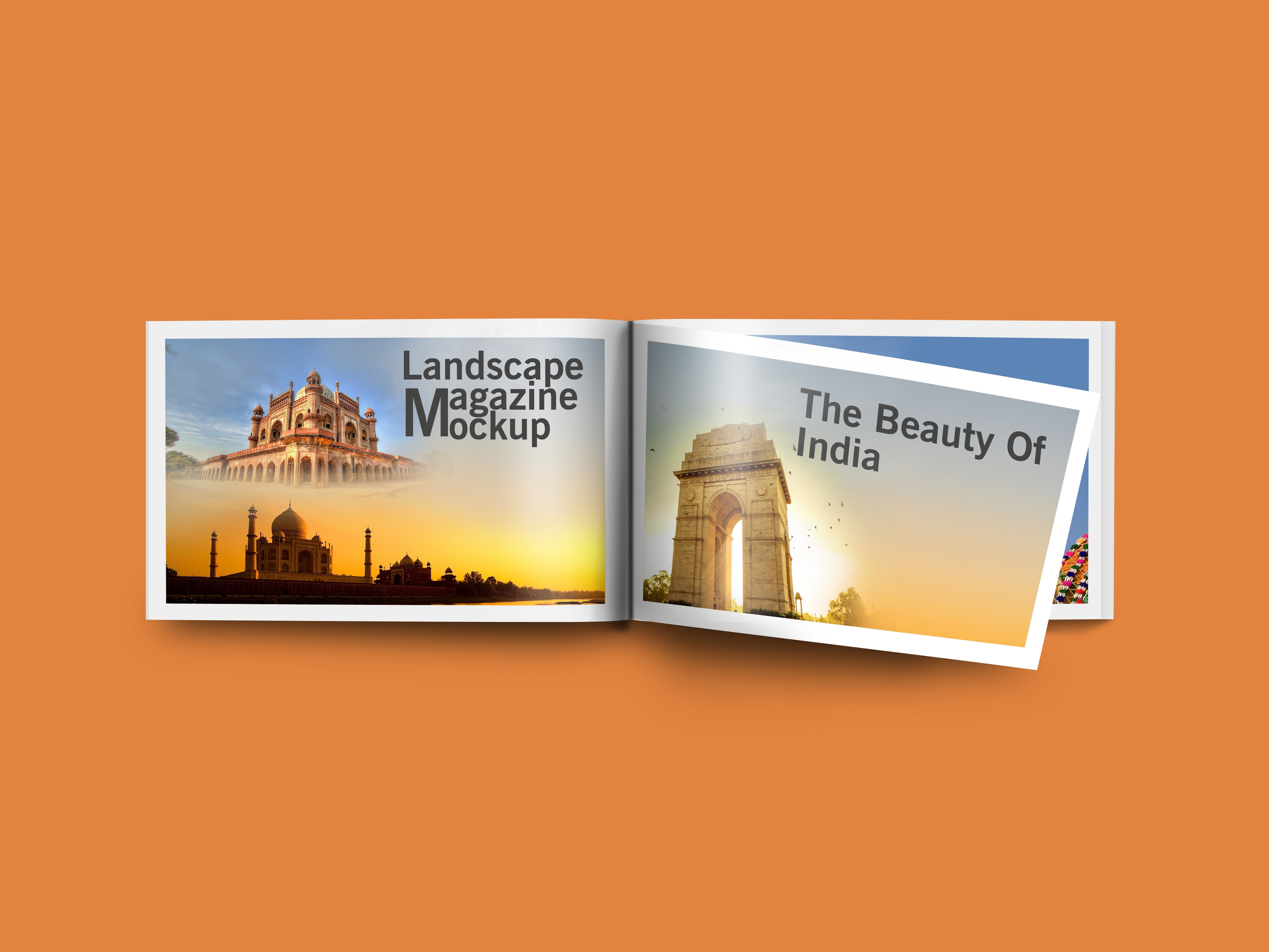 Free Landscape Magazine Mockup Psd Template By Mockup Den On Dribbble