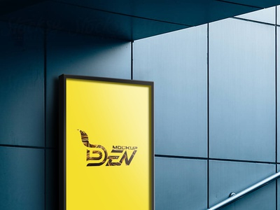 Free Vertical Billboard Mockup Design | PSD Template