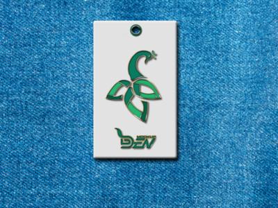 Free Blue Background Enamel Pin Mockup | PSD Template