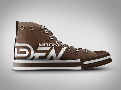 Free Brown Color Shoe Mockup | PSD Template