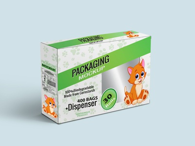 Free Cat or Dog Food Packaging Box Mockup | PSD Template