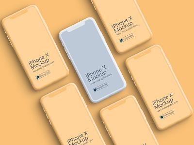 Free Clay iPhone X Device Mockup Design | PSD Template iphonex