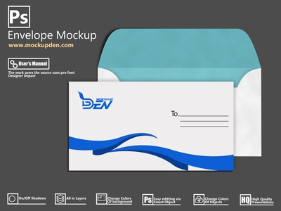 Free Customizable Envelope Mockup | PSD Design Template