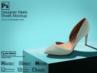 Free Designer Heels Shoe Mockup | PSD Template