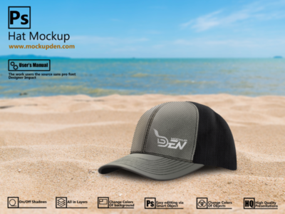 Free Smart Hat Mockup In Outdoor Background | PSD Template