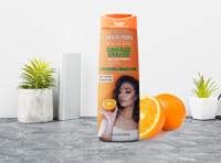 Free Orange Shampoo Bottle Mockup | PSD Template