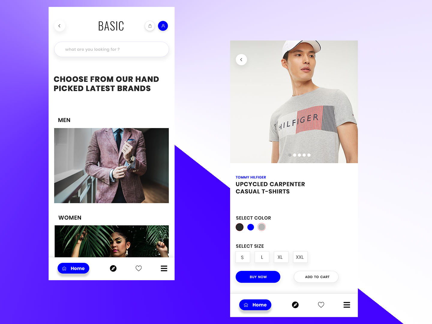 Basic E-Commerce typography identity user experience user experience design landing page 2019 app app design concept website clean branding web ux ui minimal flat design