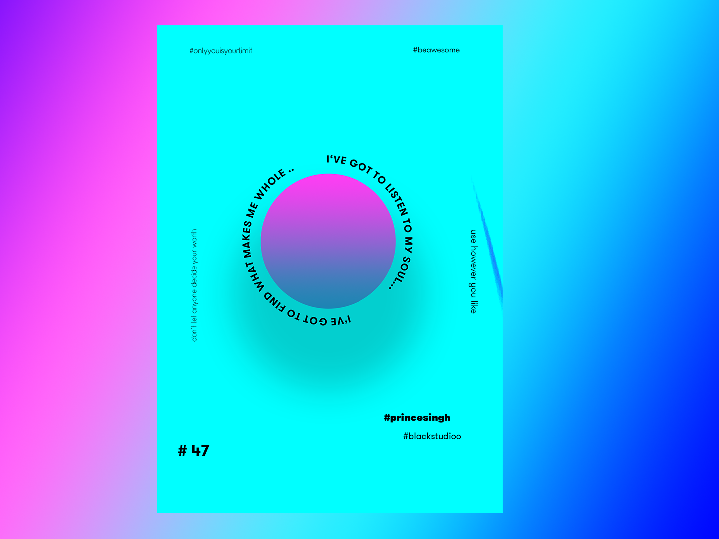 Soul everydaydesign everyday art gradient graphic graphicdesign posterdesign artist art poster a day poster art posters