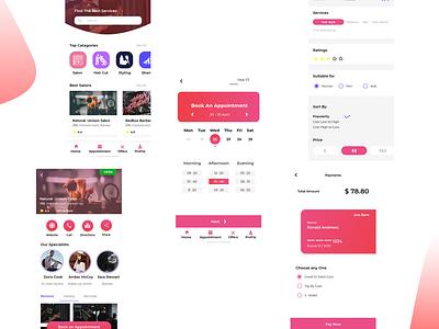 salon app android app ios8 application design app design app ux ui minimal flat design