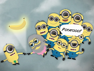 The Banana Genesis banana minions illustration character genesis despicable me